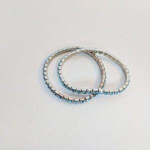 Jewelry - 💥3 for $25💥 Set of 2 Teal Rhinestone Bracelets